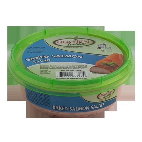 baked salmon salad 7 5 oz golden taste. Black Bedroom Furniture Sets. Home Design Ideas